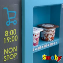 Obchody pro děti - Obchod s chladicím boxem Fresh City Market Smoby s elektronickou pokladnou skenerem a 34 doplňků_7