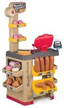 Obchody pro děti sety - Set pekárna s koláči Baguette&Croissant Bakery Smoby s elektronickou pokladnou a zeleninový Bio stánek s vozíkem Organic 100% Chef_0