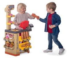 Obchody pro děti sety - Set pekárna s koláči Baguette&Croissant Bakery Smoby s elektronickou pokladnou a zeleninový Bio stánek s vozíkem Organic 100% Chef_5