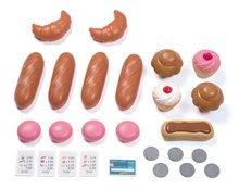 Obchody pro děti sety - Set pekárna s koláči Baguette&Croissant Bakery Smoby s elektronickou pokladnou a zeleninový Bio stánek s vozíkem Organic 100% Chef_2