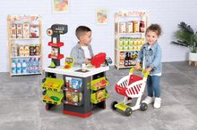 Trgovine za otroke - Trgovina z vozičkom in živili Supermarket Smoby z elektronsko blagajno in skenerjem ter tehtnico z 42 dodatki_0
