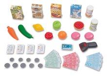 Trgovine za otroke - Trgovina z vozičkom in živili Supermarket Smoby z elektronsko blagajno in skenerjem ter tehtnico z 42 dodatki_1