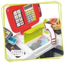 Trgovine za otroke - Trgovina z vozičkom in živili Supermarket Smoby z elektronsko blagajno in skenerjem ter tehtnico z 42 dodatki_2