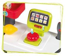 Trgovine za otroke - Trgovina z vozičkom in živili Supermarket Smoby z elektronsko blagajno in skenerjem ter tehtnico z 42 dodatki_4