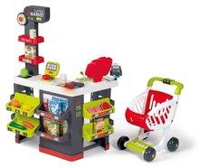 Trgovine za otroke - Trgovina z vozičkom in živili Supermarket Smoby z elektronsko blagajno in skenerjem ter tehtnico z 42 dodatki_8