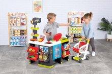 Trgovine za otroke - Trgovina z mešanim blagom MaxiMarket Smoby z elektronsko blagajno in skenerjem ter hladilnikom s 50 dodatki_0