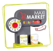 Trgovine za otroke - Trgovina z mešanim blagom MaxiMarket Smoby z elektronsko blagajno in skenerjem ter hladilnikom s 50 dodatki_2