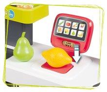 Trgovine za otroke - Trgovina z mešanim blagom MaxiMarket Smoby z elektronsko blagajno in skenerjem ter hladilnikom s 50 dodatki_4