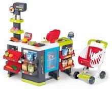 Trgovine za otroke - Trgovina z mešanim blagom MaxiMarket Smoby z elektronsko blagajno in skenerjem ter hladilnikom s 50 dodatki_14