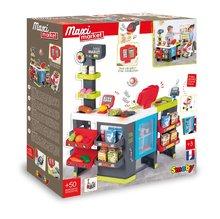 Trgovine za otroke - Trgovina z mešanim blagom MaxiMarket Smoby z elektronsko blagajno in skenerjem ter hladilnikom s 50 dodatki_15