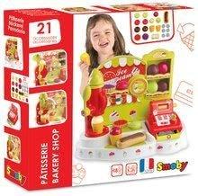 Obchody pre deti - Zmrzlináreň Ice Cream Smoby s pokladňou a 21 doplnkami od 18 mes_4