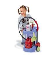 Hry na domácnost - Úklidový vozík Rowenta Smoby s elektronickým vysavačem modrý_2