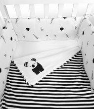 3-dielna súprava do postieľky Koala Bamboo Black&White toT's-smarTrike-paplónik, plachta a hniezdo 100% bavlnený sateen TO360