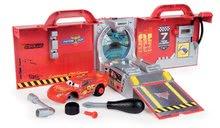 Hry na domácnosť - Set upratovací vozík s elektronickým vysávačom Vacuum Cleaner Smoby a vozík s náradím a kamiónom Mack Truck simulator Cars_5