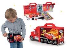 Komplet tovornjak z avtomobilčkom Cars 3 Mack Truck Smoby elektronski in pas z orodjem in žepom