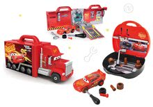 Komplet tovornjak z avtomobilčkom Cars 3 Mack Truck Smoby elektronski in kovček z orodjem in sestavljivim avtomobilčkom