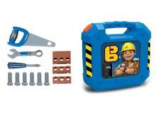 Kovček z delovnim orodjem Bob the builder Smoby z 12 dodatki moder