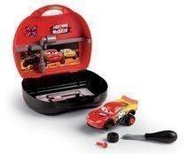Kufrík s autom Flash McQueen Cars XRS Smoby a pracovným náradim a 23 doplnkov