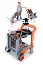 Pracovná detská dielňa - Pracovná dielňa Black&Decker Devil Workmate 3v1 Smoby skladacia na kolieskach s 18 doplnkami_2