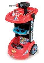 Dětská pracovní dílna Auta Ice Smoby na kolečkách s autem McQueen a 25 doplňky