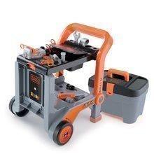 Smoby dielňa na kolieskach Black&Decker Devil Workmate 360202 sivo-oranžová