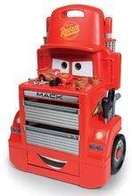 Műhely kerekeken Cars Mack Truck Smoby rakodótérrel kisautóval és 28 kiegészítővel 44*25*65 cm SM360208