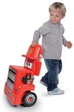 Hry na domácnosť - Set upratovací vozík Smoby s elektronickým vysávačom Rowenta a pracovný stolík Cars_4
