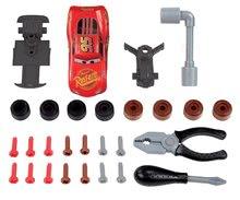 Hry na domácnosť - Set upratovací vozík Smoby s elektronickým vysávačom Rowenta a pracovný stolík Cars_6