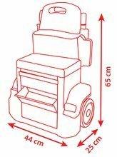 Hry na domácnosť - Set upratovací vozík Smoby s elektronickým vysávačom Rowenta a pracovný stolík Cars_9
