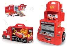 Komplet delavnica voziček Cars Mack Truck Smoby s predalčki in elektronski tovornjak Mack Truck