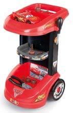 Hry na domácnosť - Set upratovací vozík s elektronickým vysávačom Vacuum Cleaner Smoby a vozík s náradím a kamiónom Mack Truck simulator Cars_3