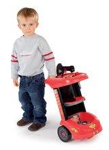 Detská dielňa sety - Set detský pracovný vozík Autá Smoby so skladacím autíčkom a elektronický trenažér V8 Driver _2