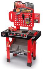Gyerek szerelőműhely Verdák 3 Smoby összerakható kisautóval, forgatható munkafelülettel és 21 kiegészítőkkel