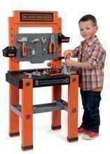 SMOBY 360700 pracovná dielňa pre deti BLACK+DECKER so zatĺkačkou a mechanickými funkciami + 79 doplnkov 103 cm výška