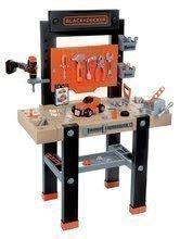 Pracovní dílna pro děti Black+Decker Smoby s mechanickou vrtačkou a autíčkem s 92 doplňky