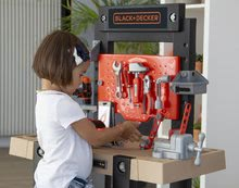 Otroška delavnica - Delavnica Black+Decker Smoby z mehanskim vrtalnikom in avtomobilčkom z 92 dodatki_0