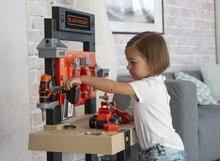 Otroška delavnica - Delavnica Black+Decker Smoby z mehanskim vrtalnikom in avtomobilčkom z 92 dodatki_11