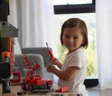 Otroška delavnica - Delavnica Black+Decker Smoby z mehanskim vrtalnikom in avtomobilčkom z 92 dodatki_12