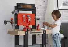 Otroška delavnica - Delavnica Black+Decker Smoby z mehanskim vrtalnikom in avtomobilčkom z 92 dodatki_13