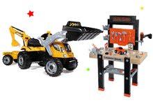 Detská dielňa sety - Set pracovná dielňa Black+Decker Smoby s vŕtačkou a traktor Power Builder Max s prívesom a bagrom_32