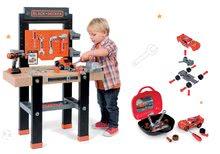 Detská dielňa sety - Set pracovná dielňa Black+Decker Smoby s vŕtačkou a autoservis Autá Ice s autíčkom McQueen v kufríku_20