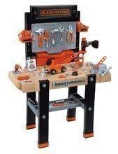 Dětská dílna sety - Set pracovní dílna Black&Decker Smoby elektronická a úklidový vozík s elektronickým vysavačem_7