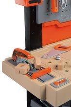 Dětská dílna sety - Set pracovní dílna Black&Decker Smoby elektronická a úklidový vozík s elektronickým vysavačem_2
