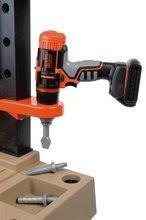 Dětská dílna sety - Set pracovní dílna Black&Decker Smoby elektronická a úklidový vozík s elektronickým vysavačem_8