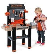 Dětská dílna sety - Set pracovní dílna Black&Decker Smoby elektronická a úklidový vozík s elektronickým vysavačem_3