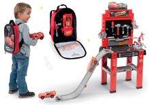 Komplet delavnica s skakalnico Avtomobili 3 Smoby in nahrbtnik z orodjem in avtomobilčkom McQueen