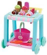 Detský vozík so zmrzlinou Délices Écoiffier s košíkom a 22 doplnkami od 18 mesiacov
