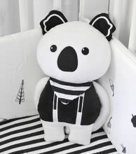 Textilní panenka Koala Bamboo Tots-smarTrike Black & White