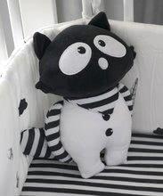 Textil játékbaba Mosómedve Bamboo toT's smarTrike Black&White 26*20 cm