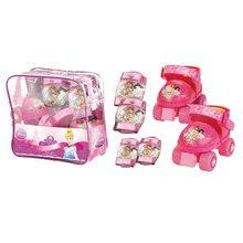 Patine cu rotile pentru copii - Role cu patru roţi Prințesele Mondo cu echipament de protecție, mărimi 22-29 roz_3